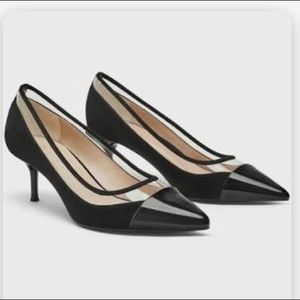 Zara Basic Collection Black & Clear Pumps 7.5 & 8